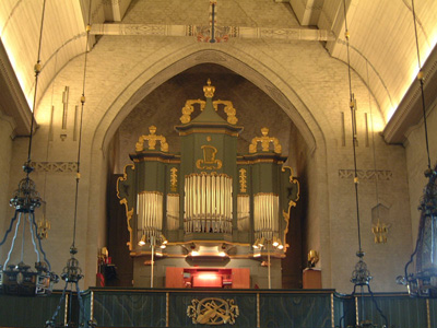 An image of the organ in Bureå church